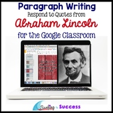 Abraham Lincoln Quotes Paragraph Bell Ringer for the Googl