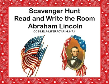 Abraham Lincoln -Reading Comprehension- Read The Room- Grades 4-7