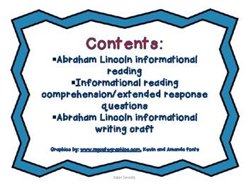Abraham Lincoln Reading/Writing Free