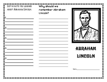 Abraham Lincoln Research Trifold