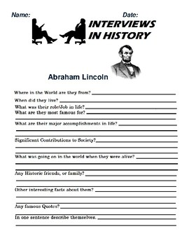 Abraham Lincoln Research and interview Assignment