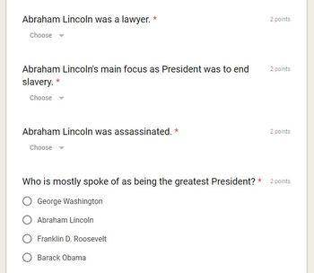Short Video Analysis: Abraham Lincoln