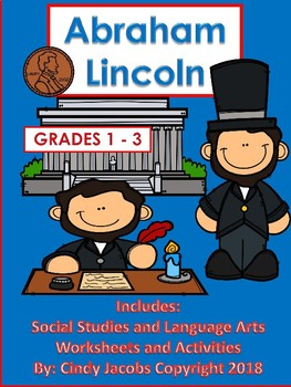 Abraham Lincoln Social Studies and Language Arts Worksheets Presidents' Day
