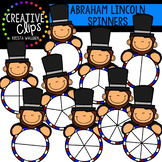 Abraham Lincoln Spinners {Creative Clips Clipart}