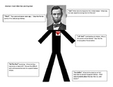 Abraham Lincoln Stick Man