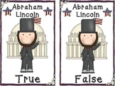 Abraham Lincoln TRUE AND FALSE POCKET CHART ACTIVITY