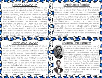 Abraham Lincoln Task Cards for Reading Fluency & Comprehension