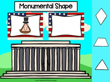 Abraham Lincoln Themed Flat Shape Activities For GOOGLE CLASSROOM
