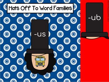 Abraham Lincoln Themed Word Family Activities For GOOGLE CLASSROOM
