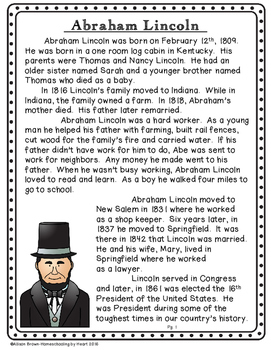 Abraham Lincoln Biography and Timeline Activity