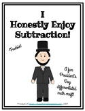 Abraham Lincoln - Two-Digit Subtraction Craftivity