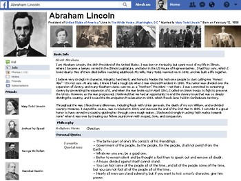 Abraham Lincoln Ultimate Fake Facebook Page!