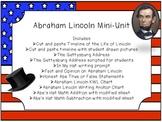Abraham Lincoln Unit- Math, Writing, Reading Skills, and More