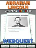 Abraham Lincoln - Webquest with Key