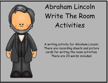 Abraham Lincoln Write the Room