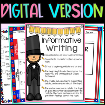 Abraham Lincoln Writing Graphic Organizers & Sentence Starters/Frames,