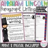 Abraham Lincoln Writing, Paragraph/Sentence Starters Black