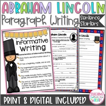 Abraham Lincoln Writing Graphic Organizers & Sentence Star