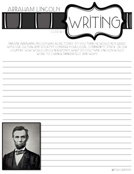 Abraham Lincoln Writing Prompts