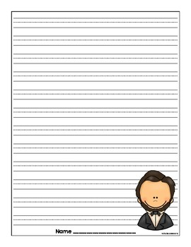 Abraham Lincoln Writing Sheets