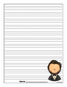 Abraham Lincoln Writing Sheets [freebie]