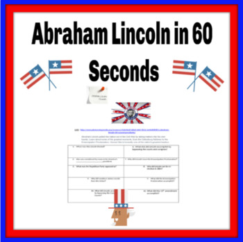 Abraham Lincoln in 60 Seconds