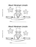 Abraham Lincoln mini book/reader for President's Day