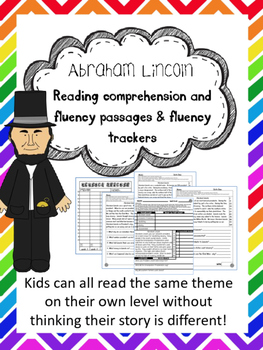 Abraham Lincoln reading comprehension and fluency leveled passages