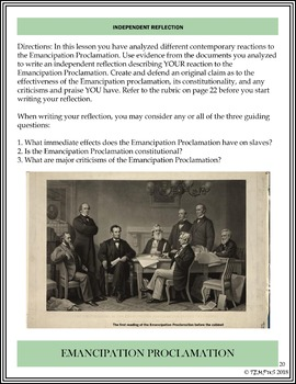 Abraham Lincoln's Emancipation Proclamation: Contemporary Reactions