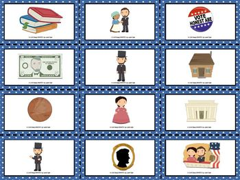 Abraham Lincoln's Patterns: LOW PREP Lincoln Themed Spin a Pattern Activity