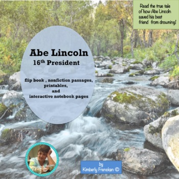 Abraham Lincoln's Tall Tales printables, flip book, interactive pages