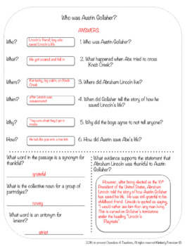 Abe Lincoln's Tall Tales: Nonfiction Passages, Printables & Interactive Pages