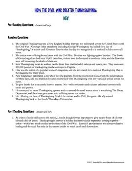Abraham Lincoln's Thanksgiving Proclamation:  A Rhetorical Analysis Activity