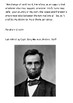 Abraham Lincoln to the Working men of Manchester Handout