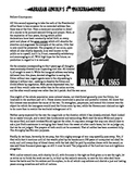 Abraham Lincoln's 2nd Inaugural Address with Review Questions