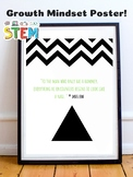 Abraham Maslow STEM Growth Mindset Poster - Maslow's Hierarchy of Needs