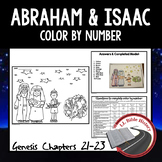 Abraham and Isaac (Bible Genesis 21-23) Color By Number Activity