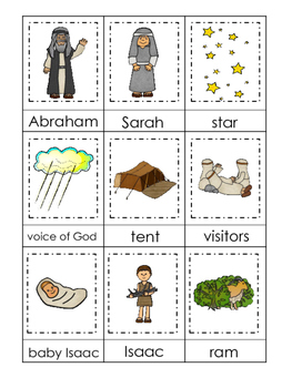 Abraham and Sarah 3 Part Matching printable game. Preschoo