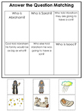 Abraham and Sarah Answer the Question printable game. Pres