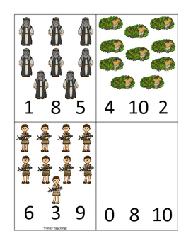 Abraham and Sarah Count and Clip printable game. Preschool Bible Study Curriculu