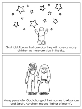 Abraham and Sarah Emergent Reader printable worksheets. Preschool Bible Curricul