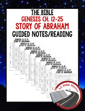 Abraham and Sarah Guided Notes and Reading (Bible Genesis
