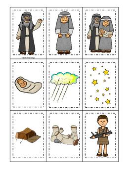 Abraham and Sarah Memory Match printable game. Preschool B