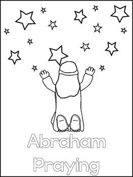 Abraham and Sarah Printable Color Sheets. Preschool Bible Study Curriculum.