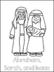 Abraham and Sarah Printable Color Sheets. Preschool Bible