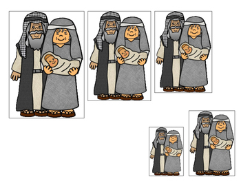 Abraham and Sarah Size Sequence printable game. Preschool Bible Study