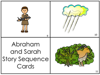Abraham and Sarah Story Sequnce Cards. Preschool Bible Literacy Curriculum.