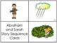 Abraham and Sarah Story Sequnce Cards. Preschool Bible Lit