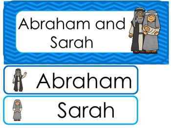 Abraham and Sarah Word Wall Bulletin Board Set. Preschool Bible Curriculum.