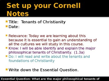Abrahamic Religions - Christianity Tenants and Sects